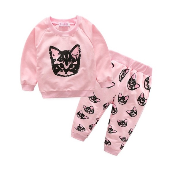 Vicabo Other - NWT Crazy Cat Lady-Baby Sweat Suit sz 12-18 Mo